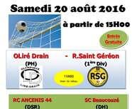 GALA DE FOOTBALL LE 20 AOUT 2016...